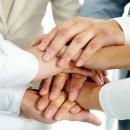 Samenwerken handen